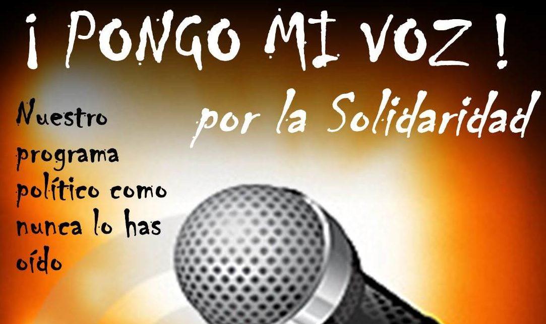 Elige Las Canciones De La Fiesta Pongo Mi Voz Por La Solidaridad