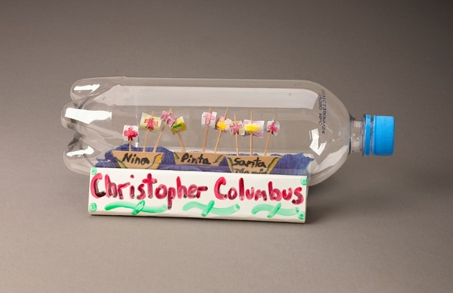 Columbus Day Craft idea Voyages in a Bottle