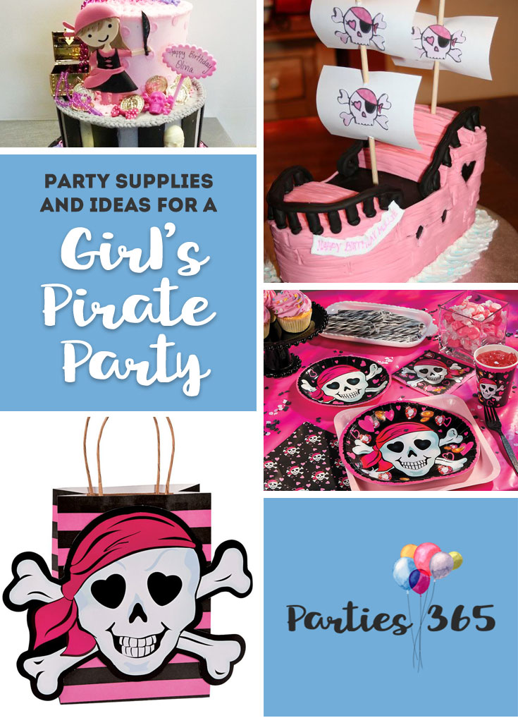 Girl S Pink Pirate Birthday Party Supplies And Ideas Parties365