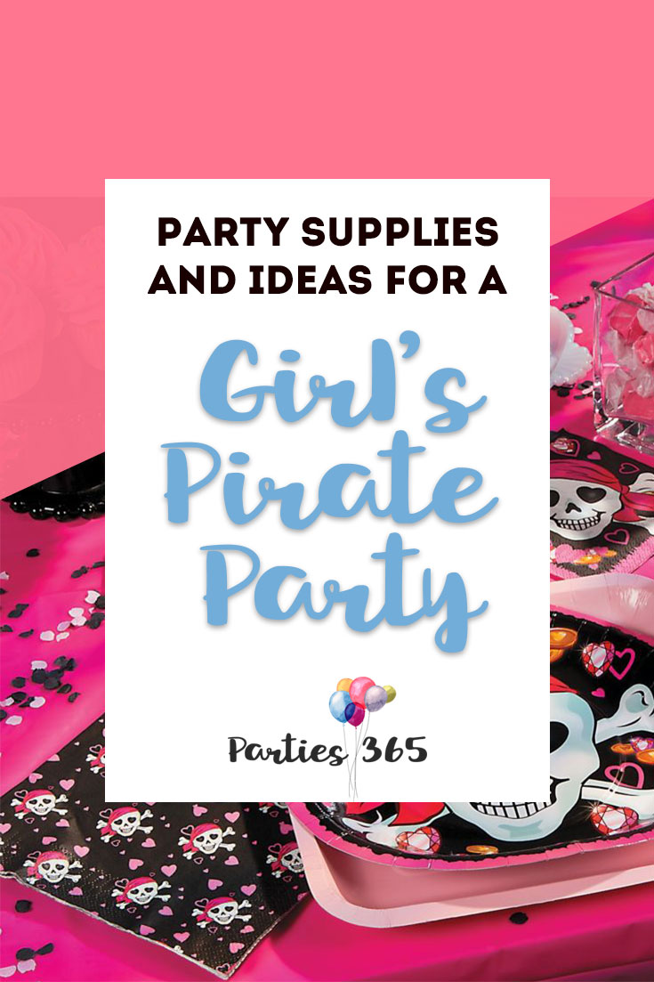 Planning a Pirate Birthday Party for your daughter? Yes, even girl's love pirates and we've rounded up some super cute girl's pirate party supplies for you! From tableware to cakes to decor to games, we've got you covered! Pirate Party | Pink Pirate Party | Pirate Party Decor