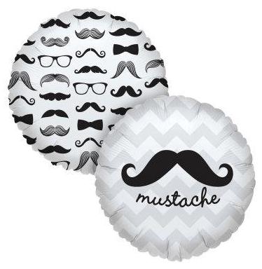 mustache balloon, mustache party supplies, supplies for a mustache party