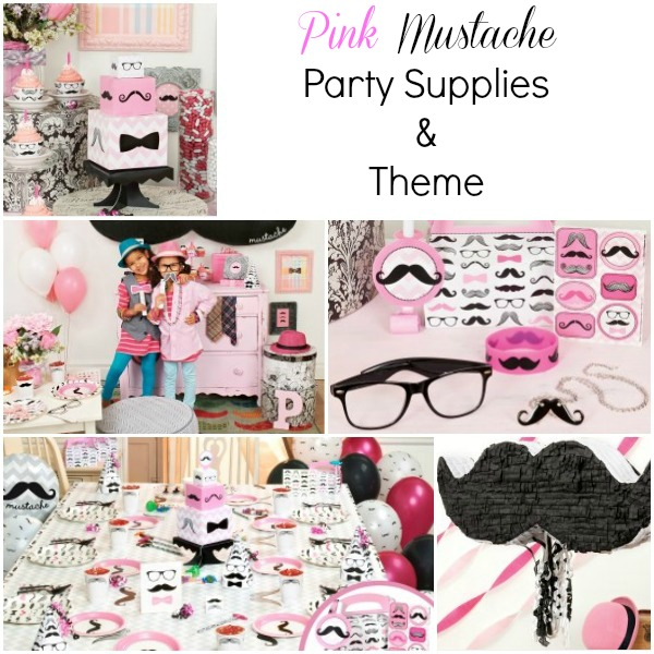 pink mustache party supplies 06