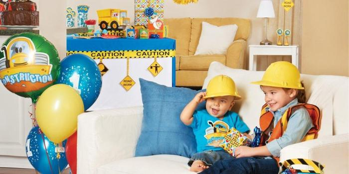 Construction Pals 1st Birthday Theme