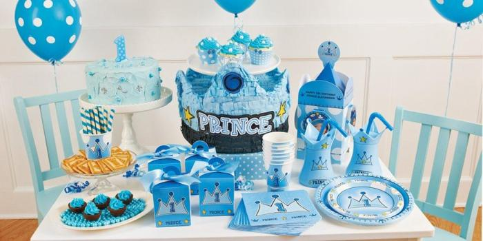 Lil prince boy first birthday theme