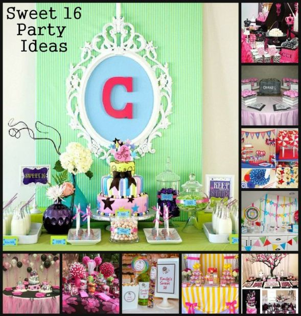 Sweet 16 Party Birthday Table Decorating Ideas, 16th Birthday, Ideas for a Sweet 16 Party