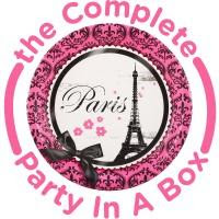 Paris Themed Birthday Party, Paris Damask Party In a Box