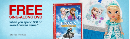 Free Frozen Sing a long DVD