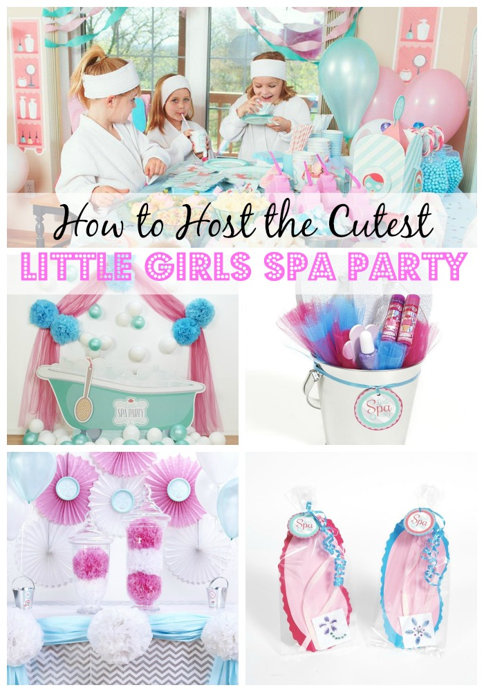 How to host the cutest little girls spa party parties365 for Party decorations to make at home