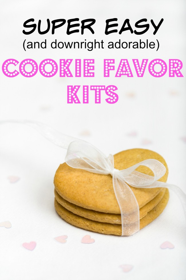 These cookie favors are super easy to put together downright adorable to look at and of course, a tasty treat your party guests will appreciate.