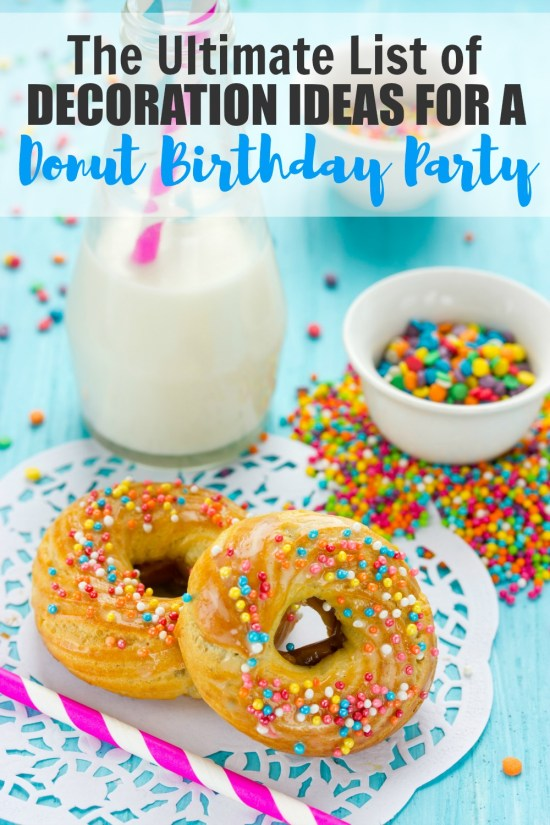 Look no further! This is the Ultimate List of Decorations for a Donut Birthday Party! Donut Party Decor | Donut Party Supplies | Donut Party Ideas