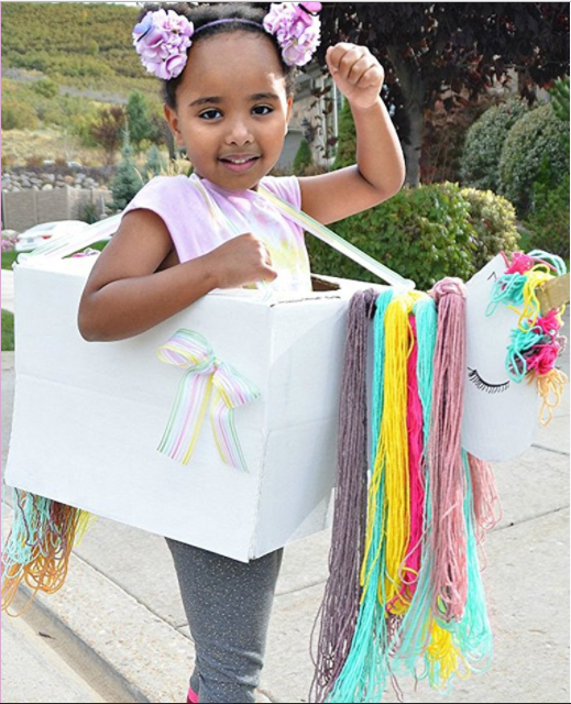 If you're looking for ideas for a DIY Kids Unicorn Costume and you're freaking out because it's last minute...don't. Amazon has teamed up with some fabulous DIY bloggers to bring you creative Halloween costumes you can make at home using Amazon Smile boxes.