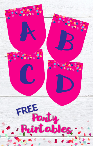 Get free party printables when you join our library! Party Banners | Downloadable Printables | Party Decor