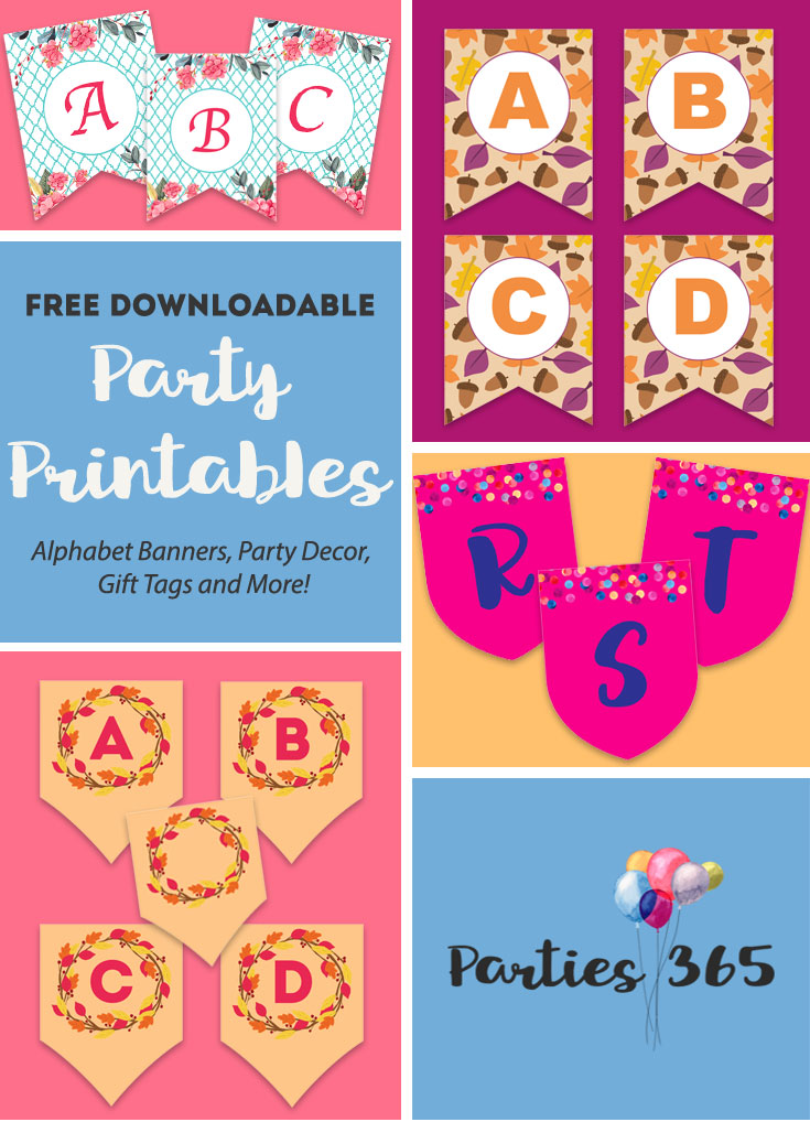 Need printables for your next party? Get access to our FREE Party Printables Library! We have downloadable banners, party decor, gift tags and more! | Party Printables | Free Banners | Free Printables