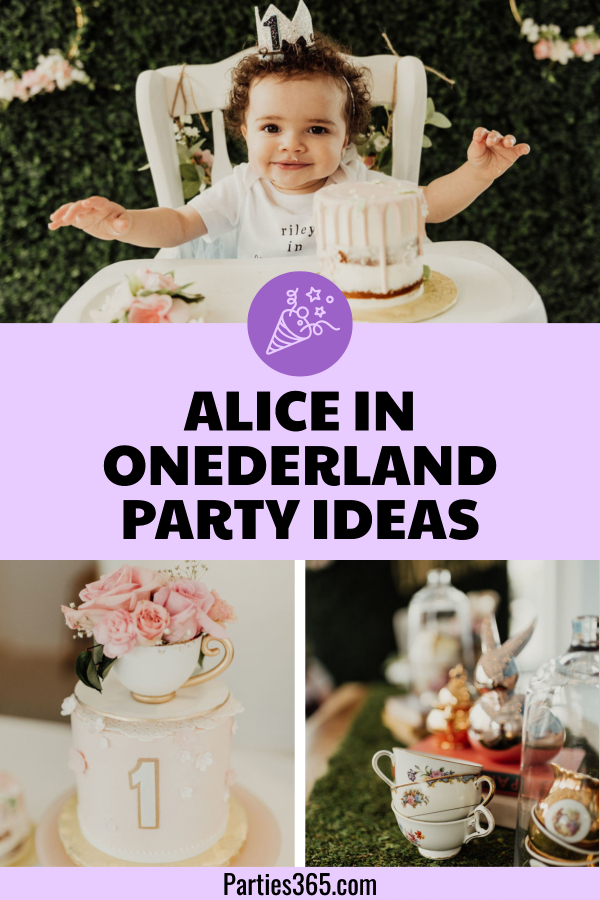 Delightful Alice In Onederland Themed First Birthday Party Parties365
