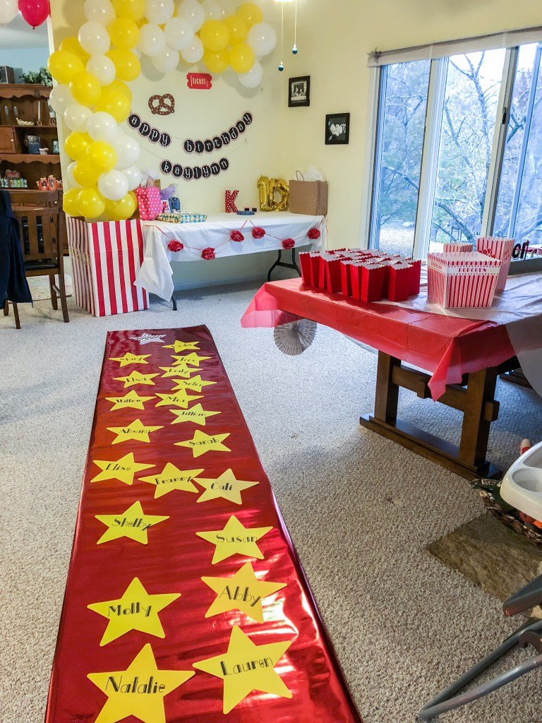 DIY Movie Theater Birthday Party