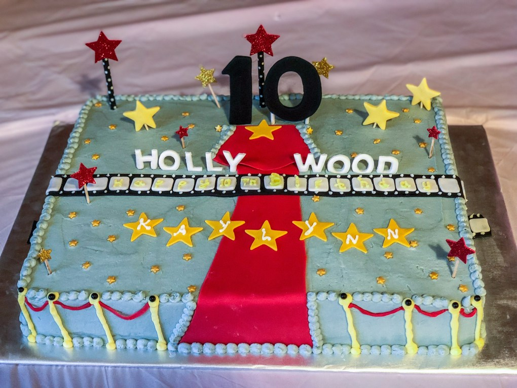 DIY Movie Theater Birthday Party Cake