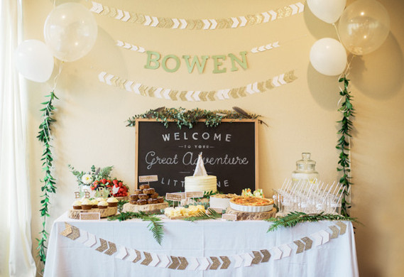 11 Simple and Neutral Baby Shower Theme Ideas: Adventure Theme