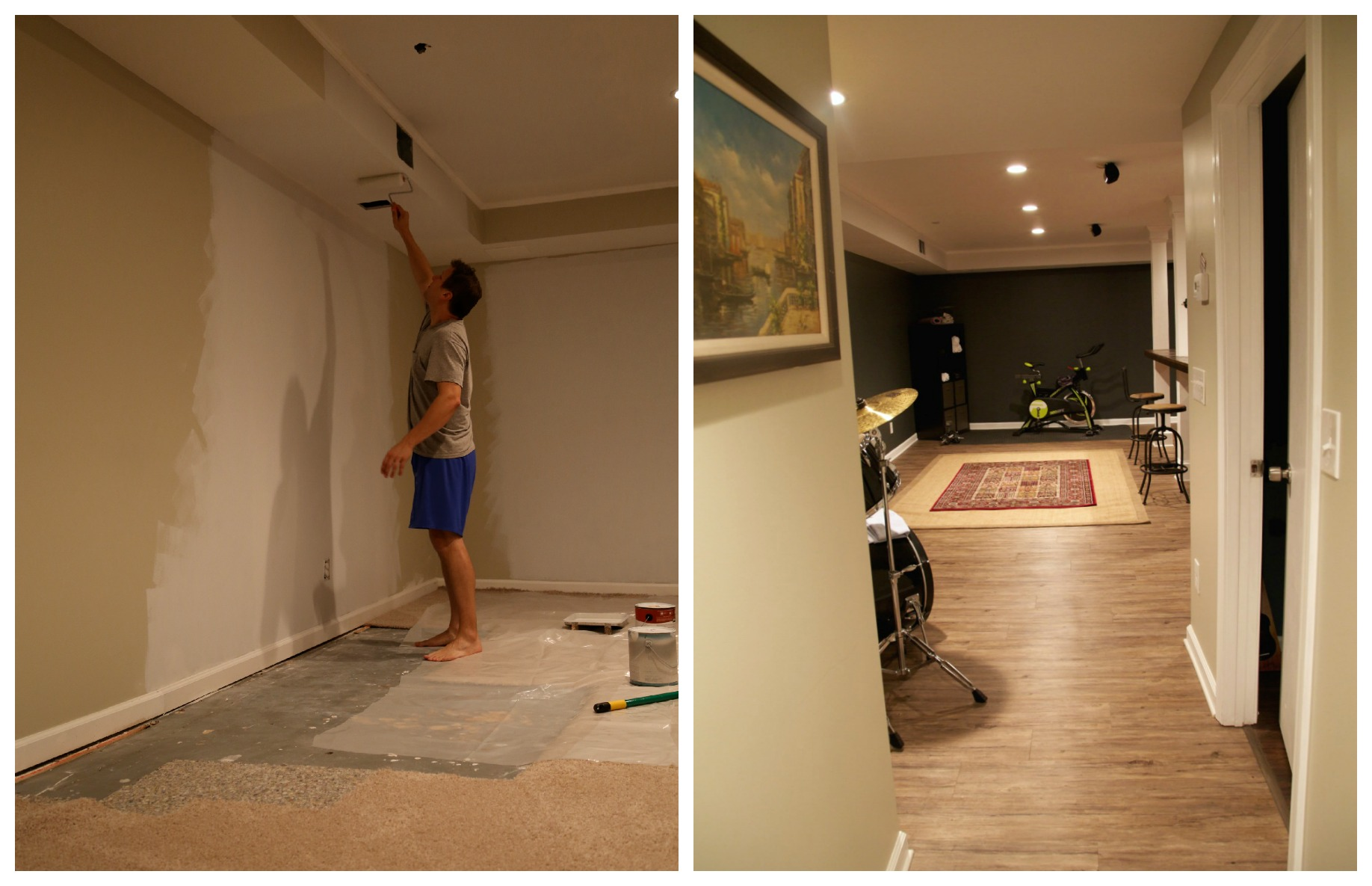 Man Cave Makeover Before Amp After 3 Parties For Pennies