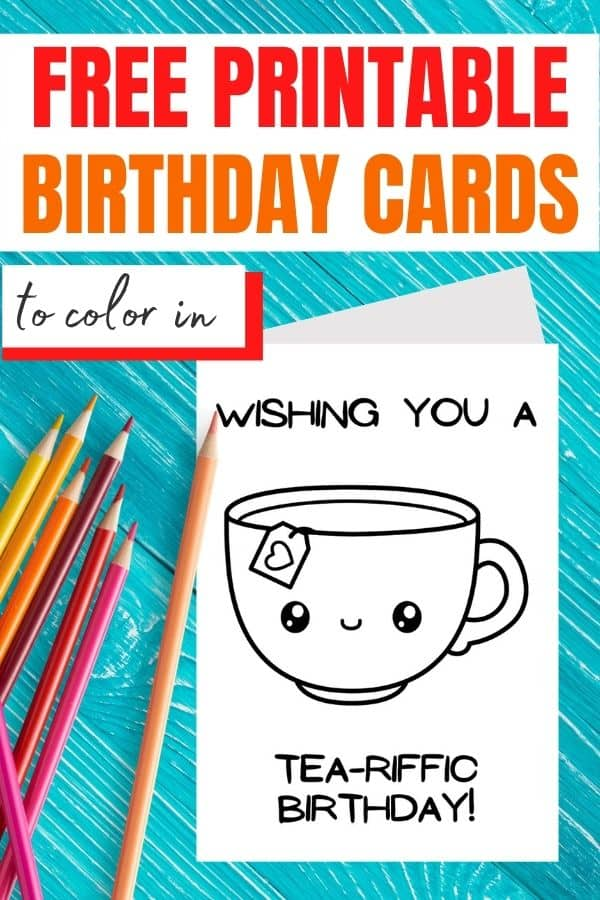 Happy Birthday Coloring Card Free Printables 21 Designs Parties Made Personal