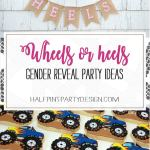 Wheels Or Heels Gender Reveal Party Ideas Parties With A Cause