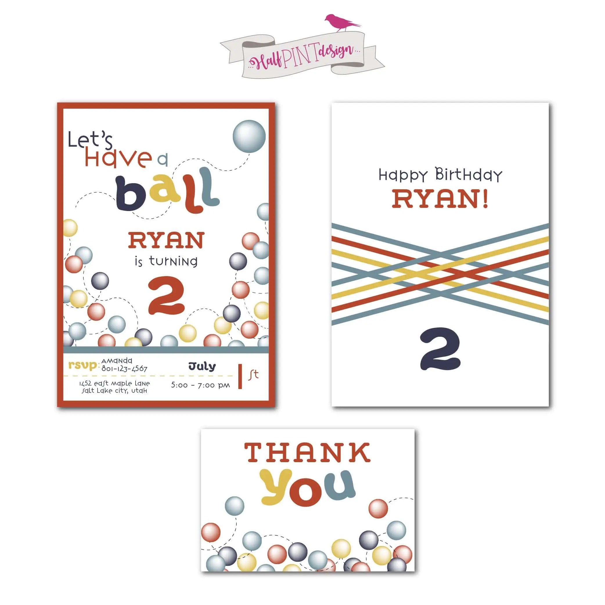 Have A Ball Birthday Party Invitation Parties With A Cause