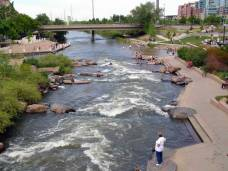 Confluence Park, where Denver was founded, is now the center of the largest urban area between St. Louis and California and a spot for downtown community gatherings. Image courtesy Denver Infill.