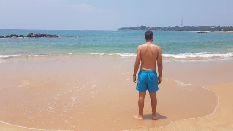 Plage de sable blanc Sri Lanka Tangalle