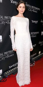 I was in love with white gown at an international COB premiere. Her hair and makeup are also on point!