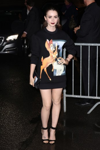 In Givenchy's famous Bambi sweatshirt