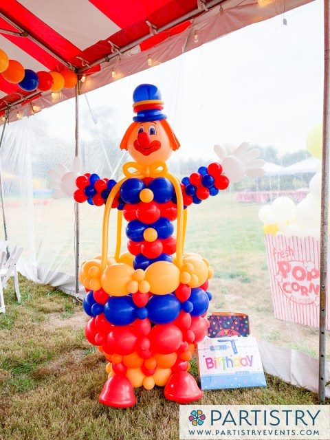 Clown made out of balloons