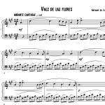 vals de las flores partitura piano pdf