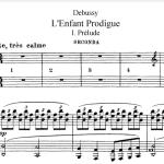 debussy l'enfant prodigue (4 manos) pdf