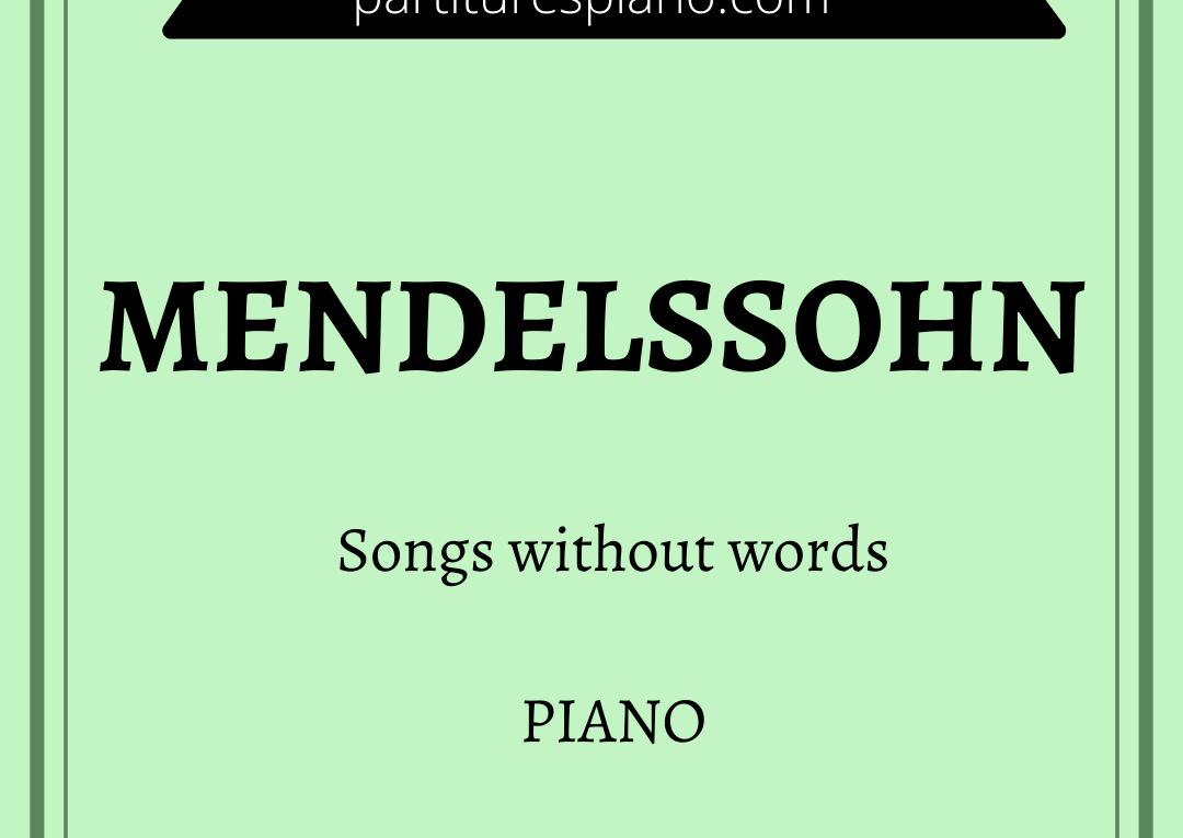 Mendelssohn songs without words pdf