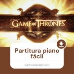 partitura piano fácil juego de tronos pdf
