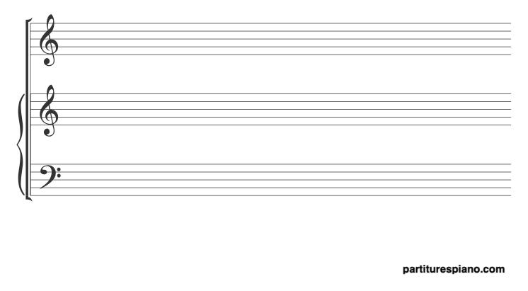 papel pautado piano + vocal