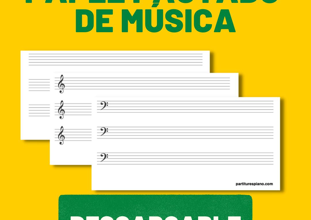 papel pautado música para imprimir