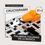 Crucigrama musical, términos italianos