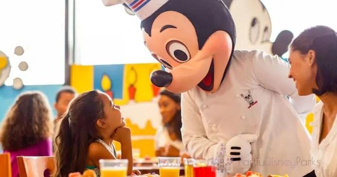 Refeição com crianças na Disney