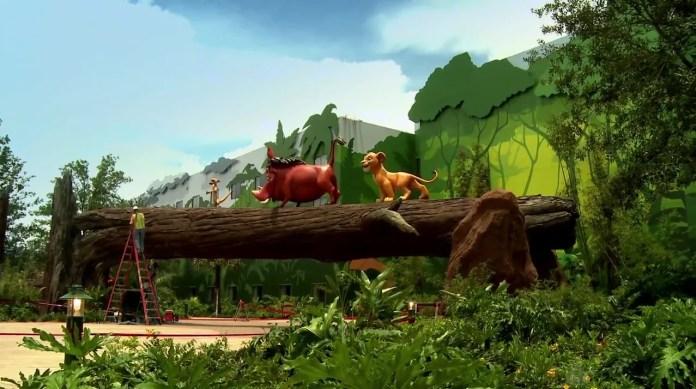 Decoração do Rei Leão no Art of Animation da Disney