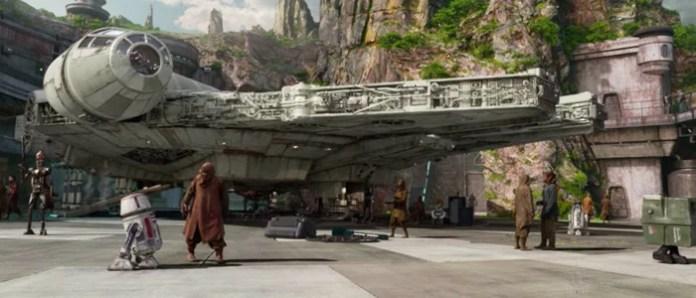 A Millennium Falcon é destaque de Star Wars Galaxy's Edge