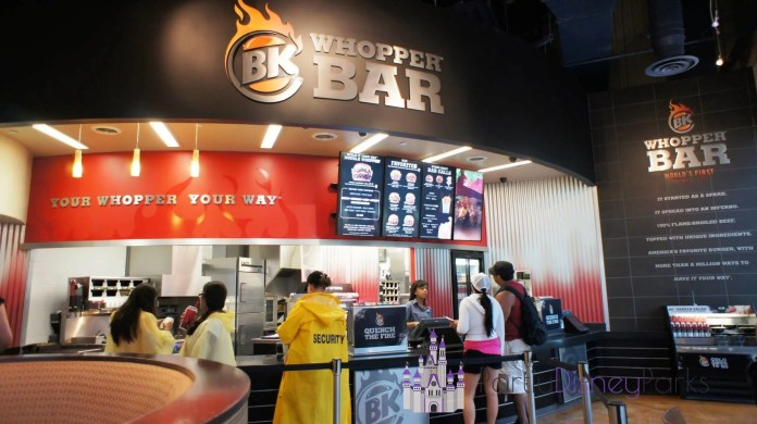 Universal CityWalk Orlando food court: BK Whopper Bar.