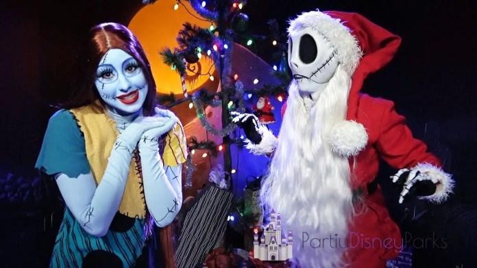 Jack Skellington e Sally no Natal da DIsney