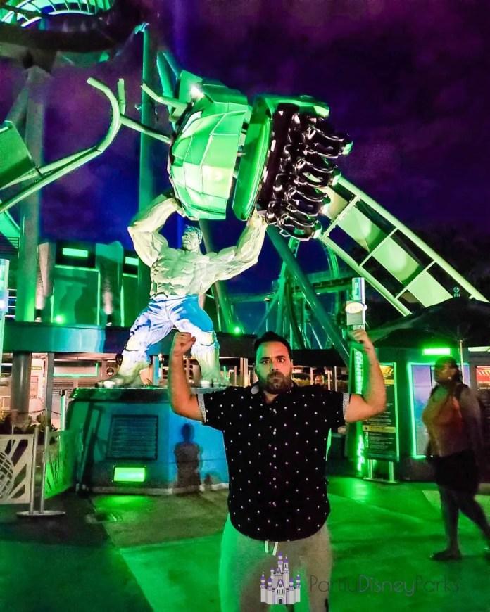 Carlos na montanha russa hulk-