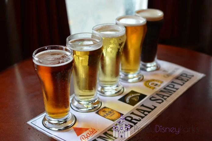 Flight de Cerveja Rose and Crown Pub