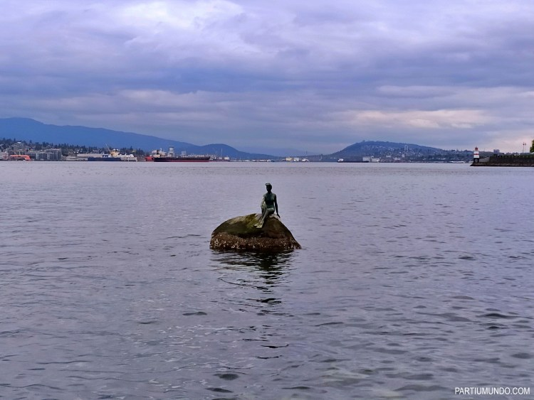 Girl in a Wetsuit statue - Stanley park