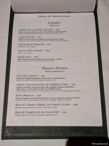 Menu - Restaurant Charpentier