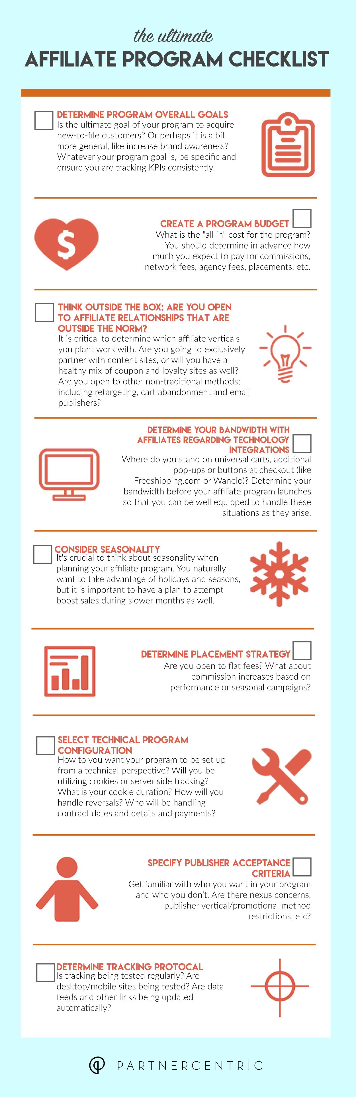 The Ultimate Affiliate Program Checklist