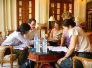4.22 - Vientiane - pre-launch discussion at Settha small group