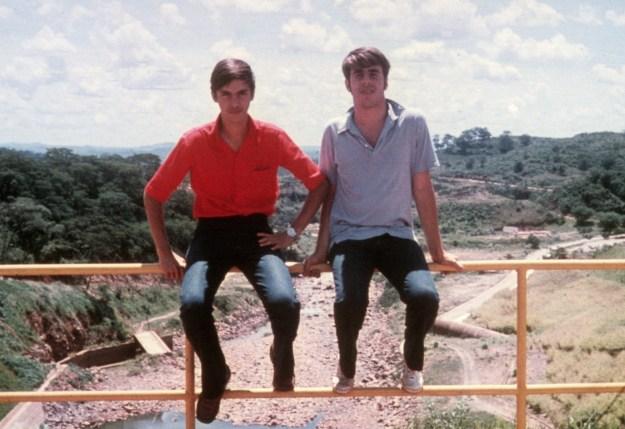 Ed in Brazil with Jose RIcardo 1970