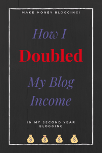 How I Doubled My Blog Income